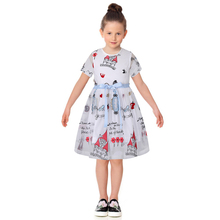 Robe Fille Enfant Toddler Girl Dresses Summer 2017 Brand Kids Dress with Sashes Character Princess Party Dress Girls Clothes
