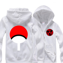 3Colors Anime Naruto Sasuke Uchiha Sharingan Hoodie Cosplay Costume Hooded Zipper Jacket Daily Casual Sweatshirts(China)