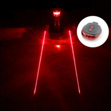 (5LED+2Laser) Retail free shipping factory Cycling Safety Bicycle Rear Lamp Bike Laser Tail Light Bicicleta Caution TL0006(China)