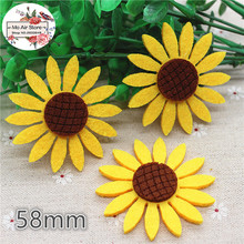 4/6/8CM Non-woven patches sunflower Felt Appliques for clothes Sewing Supplies DIY craft ornament