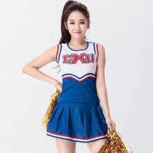 Tank Dress Girls Cheerleaders Dress Fancy Dress Game Cheering A-line Skirt Suit Basketball Football Baby Performance Costume(China)