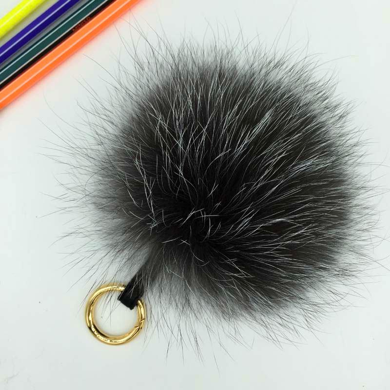 silver fox fur pompom 2 -