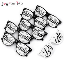 JOY-ENLIFE Bridal Themed Novelty Glasses Bridal Bachelorette Party Favors Bride To Be Wedding Party Favor Hen Decor Supplies(China)