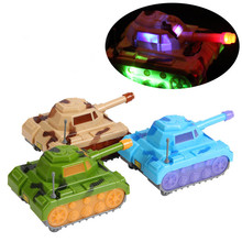 SSXZ Color Random Tanks Car Electronic Toys Make Sound & The Light Funny Baby Toys Parent-child Toy Brinquedo(China)