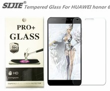 SIJIE Tempered Glass For HUAWEI honor 6 Screen Protector protective front 9H hardness thin discount with Retail Package 5 inch