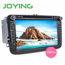 "Joying Android 5.1.1 Lollipop Quad Core Car Head Unit 8"" GPS Navigation For Volkswagen Seat Skoda DVD Player+Rear Camera"