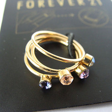 Accessories c81 fashion gold ring the combination of the joint finger ring pinky ring diameter 1.4cm(China)