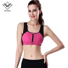 Wechery Bralette Bra Top Bra Fitting bh Brassiere Push Up Woman Fitness Zip Front Closure Sexy Bras for Women