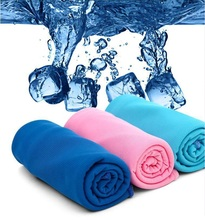 Gifts package 30*75cm Ice Sport Towel Utility Enduring Instant Cooling Towel Heat Relief Reusable Chill Cool Towel Cold towel