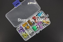 27PCS 4A~40A Small Size Auto fuse inserts car insurance tablets small fuse with lamp car inserts fuse with box and clip(China)