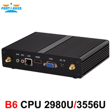 Partaker B6 Fanless Mini Desktop PC 3 Year Warranty Celeron 2955U Pentium 3556U HTPC USB 3.0 HDMI VGA 1000M LAN WiFi