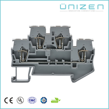 UNIZEN JUT3-2.5/2 37pcs Spring din rail terminal blocks 500V/24A Grey double-deck reihenklemmen Double-layer wiring terminal(China)