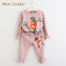 Bear Leader Winter Girls Clothing Sets 2017 New Active Boys Clothing Sets Children Clothing Cartoon Print Sweatshirts+Pants Suit(China)