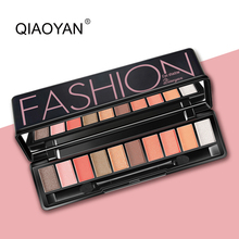 10 colors Matte Eyeshadow Palette Beauty Colors Pigment Nudes Waterproof Kits Eye Shadow with Brush for Women Gift(China)