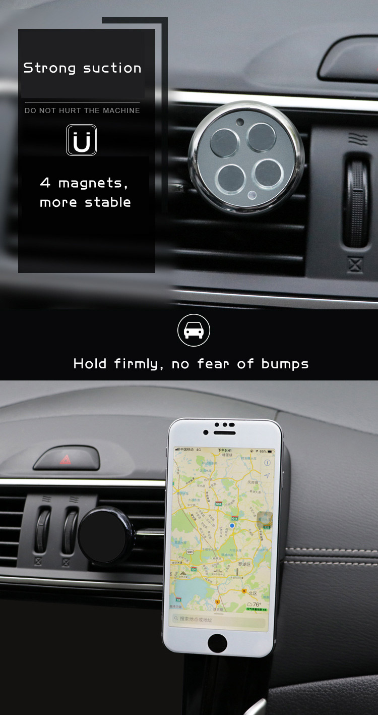 Air vent perfume magnet holder metal plate in car holders magnetic ayfony mount for phone iphone X moblie samsung S9 huawei 8 7