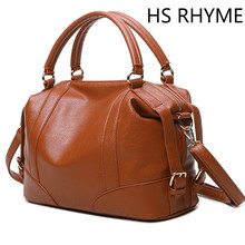 HS RHYME Soft Leather Handbags Big Women Bag Zipper Ladies Shoulder Bag Girl Hobos Bags New Arrivals Bolsa Feminina