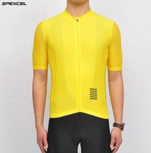 2017 Men New Cycling Jersey Yellow High Quality Cycling Clothing Summer Short Bike Clothes Pro Bicycle Jersey Breathable Sports