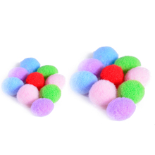 50pcs 10mm 16mm Round Colorful Pompon Felt Ball Diffuser Refill Ball Beads For Bracelets Or Essential Oil Lockets Necklace