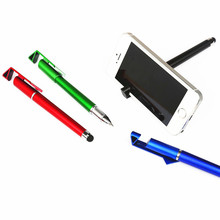 3 in 1 Multi-function Cellphone Holder Stand Stylus Touch Screen Stylus Pens for iPad iPhone 5 6S Samsung Tablet(China)
