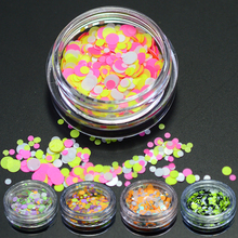 NEW Fashion 1g 1mm-2mm Mixed Mini Round Thin Multicolor Nail Art Glitter Paillette DIY Gel Polish Tools SAP25-35