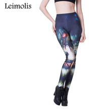 Buy Leimolis 3D printed fitness push workout leggings women gothic Angry Wolf plus size High Waist punk rock pants for $6.42 in AliExpress store