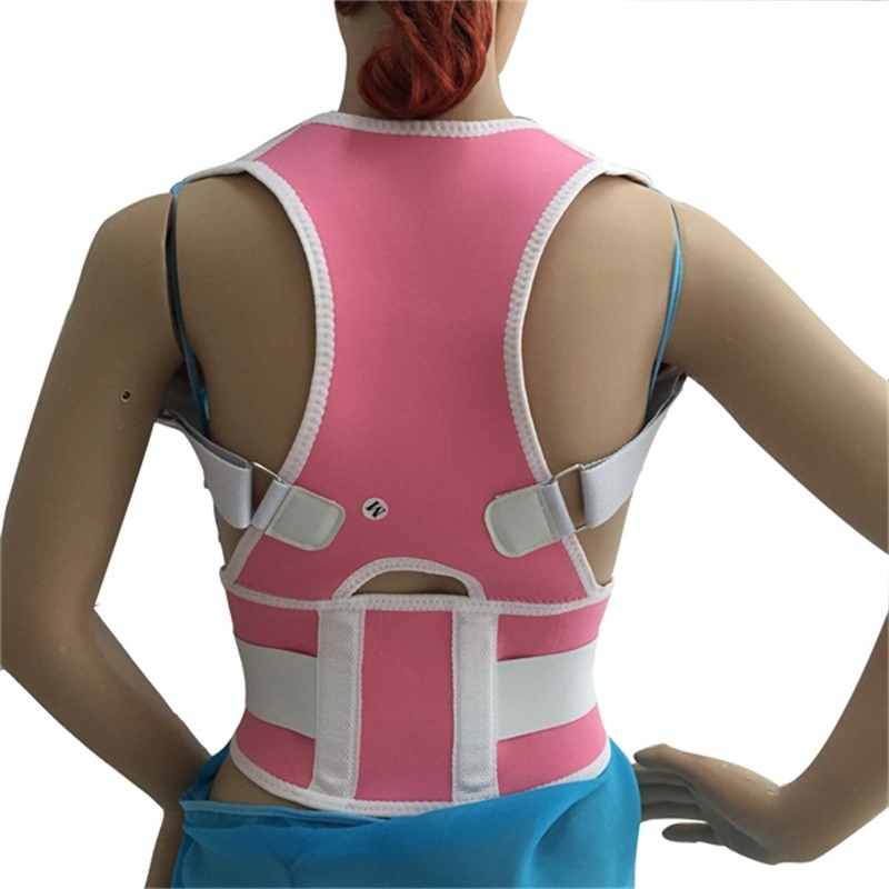 TV Hot Magnetic Posture Support Spine Stretch Shoulder Back Vest Adjustable Posture Belt Corrector De Postura(China)