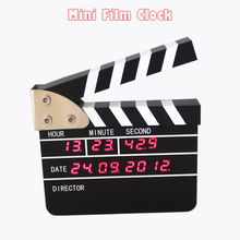 1 Piece 2016 New Creative Film Director Mini Film Digital LED Desk Clock For Home and Office Decorative Table Clock