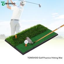 TOMSHOO Mini Golf Tee Golf Fairway Rough Turf Practice Training Mat Tee Shots Rough Shots Practice Golf Hitting Mat(China)