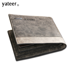 vintage men wallets famous brand purse for money pu leather men waller vintage style gift for boyfriend husband(China)