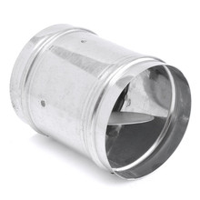 Newest 100mm Air Tube Pipe Check Valve Duct Valve Iron Silver 120 mm Length 0.5 mm Thickness(China)