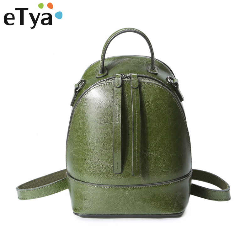Fashion Backpacks for Women Leather Genuine Leather  Female School Bag for Teenage Girls Tote Cow Leather  Women Shoulder Bag<br>