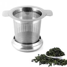 New Stainless Steel Mesh Tea Infuser Metal Cup Strainer Tea Leaf Filter Sieve(China)