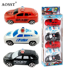 6 pcs Force Control Pull Back Plastic Car Toys Police Car Truck Model Toys Birthday Xmas Gift For Kids Police Cars Toys