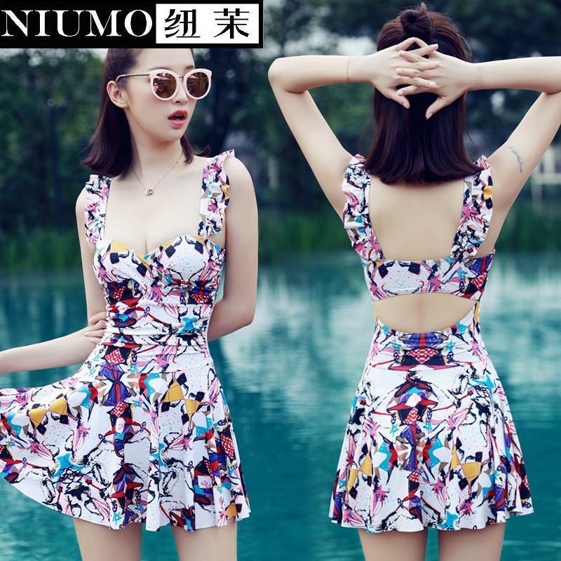 NIUMO New one-piece bathing suit conservative Hot springs sexy Big yards swimming<br>