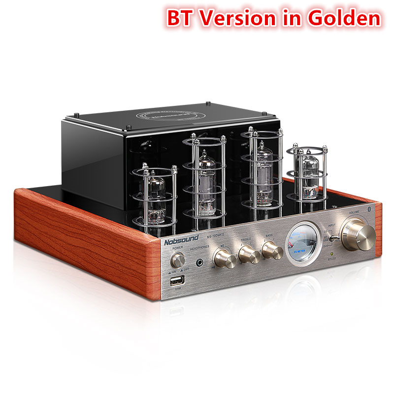 Nobsound MS-10D MKII MP3 Home audio amplifier tube bluetooth headphone Multi-function music player speaker Amplifiers