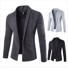 spring autumn men fashion open style slim sweater cardigans men casual open sweater cardigans