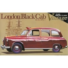 OHS Aoshima 00072 1/24 London Black Cab Vintage Scale Assembly Car Model Building Kits