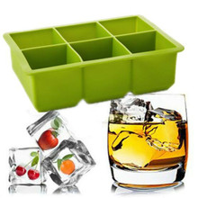 16.5*11.5*5 cm /DIY Creative Big Ice Cube Mold Square Shape Silicone Ice Tray Fruit Ice Cube Maker Bar Kitchen Accessories(China)