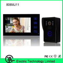 "Original 7"" TFT color LCD video doorphone one to one intercom system video door bell with night vision IR camera  806MJ11"