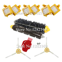 6x HEPA Filter +2x screw+ 2x Side Brush +1 set Bristle Brush for irobot roomba 700 Series Vacuum Cleaner Robot 760 770 780 790(China)