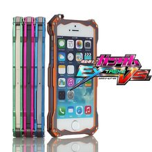 Ultrathin R-JUST TRANSFORMER Carbon Fiber Metal Aluminum Frame Gundam Climbing Case Cover for iPhone 6 4.7 6s plus 5.5 SE 5s 4s(China)