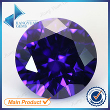 100pcs 6.25-12mm Dark Violet Color Wholesale 5A CZ Stone Brilliant Round Cut Cubic Zirconia Synthetic Gemstone For Sale