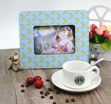 100 pcs/lot sublimation blank DIY Wooden photo frame for pictures MDF OEM frame photo gift painting print decorative