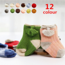 16 colors cotton thick line children socks separate packaging baby socks  tassel boys and girls socks baby socks 0-1 years L162