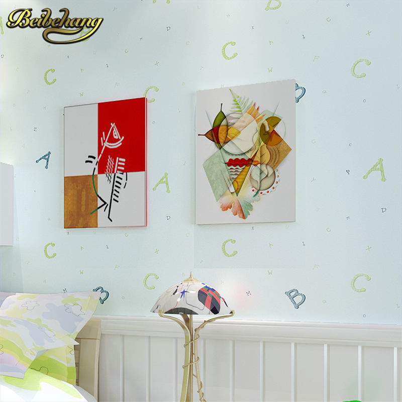 beibehang mural Words Textured Letters wallpaper roll Embossed wall paper for Kids room wall covering papel de parede para sala<br>
