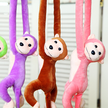1PCS Cute 68cm Long Arm Monkey From Arm To Tail Plush Toys Colorful Hang Monkey Curtains Stuffed Animals Dolls for Kids Childern(China)