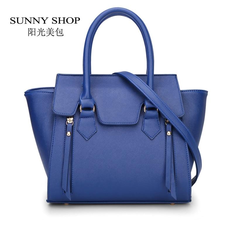 SUNNY SHOP  Trapeze Women PU Leather Shoulder Bags Designer handbags high quality bolsa feminina bolsos carteras mujer marca 40Z<br><br>Aliexpress