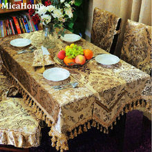 Icepatterned gold velvet fashion dining table cloth table cloth cushion chair cover table runner fabric