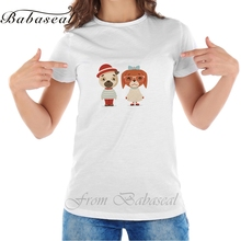 Babaseal Cute Puppy Dogs Boy Girl Geek Cubs Hipster Mascot Cartoon Flat Design Women Tops Sexy Tshirt Designer T Shirt Tee Femme(China)