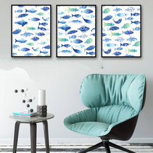 Marine Animals Fish Minimalism Art Canvas Poster Print Painting Picture Modern Home Living Room Decor No Frame Free Shipping